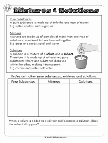 Mixtures and solutions Worksheet Answers Awesome 45 Best Images About Science Separating Mixtures On