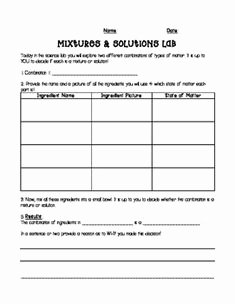 Mixtures and solutions Worksheet Answers Beautiful Mixtures and Pound Graphic organizer Google Search