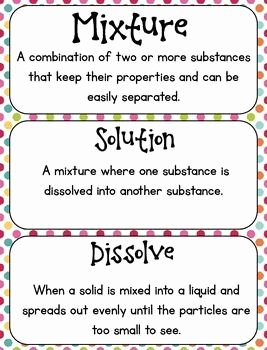 Mixtures and solutions Worksheet Answers Beautiful Mixtures and solutions Activities Notebook Worksheets