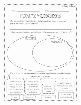 Mixtures and solutions Worksheet Answers Best Of 45 Best Images About Science Separating Mixtures On