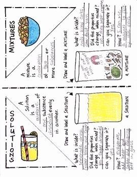 Mixtures and solutions Worksheet Answers Best Of Mixtures and solutions Foldable by Science Doodles