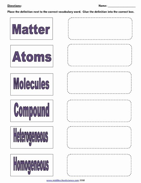 Mixtures and solutions Worksheet Answers Best Of Mixtures solutions and Matter Worksheet for 7th 9th