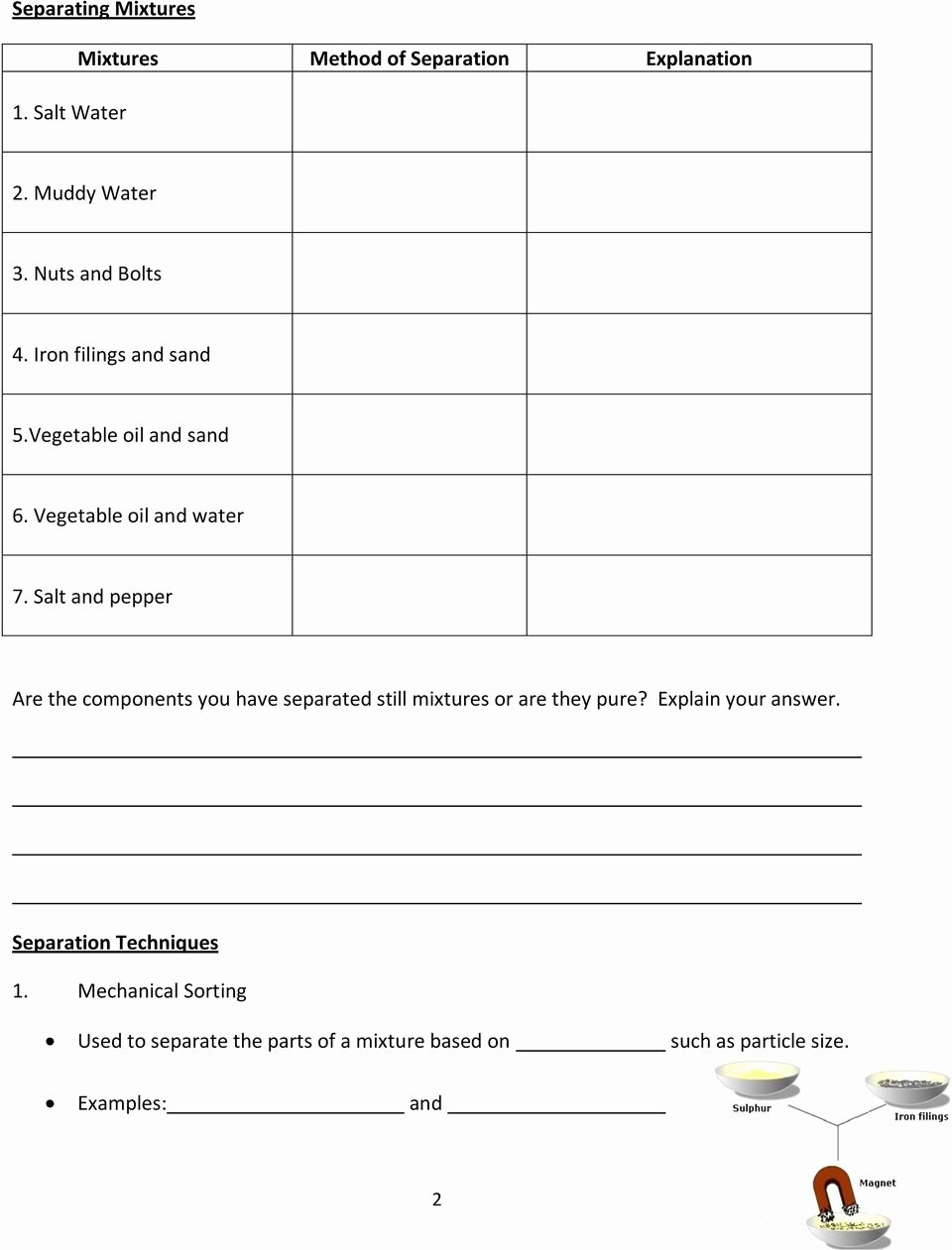 Mixtures and solutions Worksheet Answers New Grade 7 Science Unit 3 Mixtures and solutions Pdf