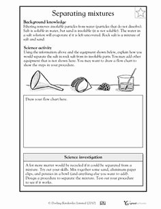 Mixtures and solutions Worksheet Answers Unique 11 Best Of 5th Grade Science Mixtures and solutions