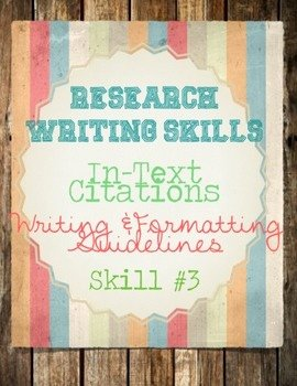 Mla Citation Practice Worksheet Inspirational Research Skills Mla In Text Citations and Practice