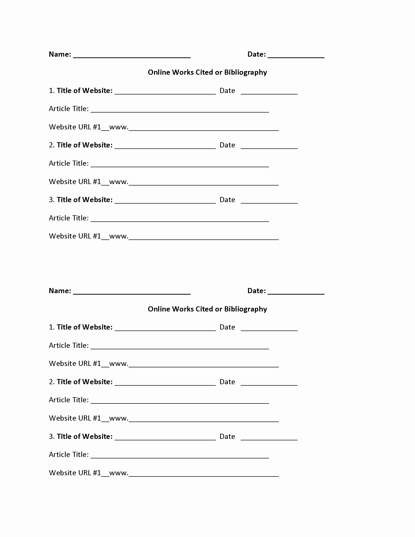 Mla Citation Practice Worksheet Inspirational Works Cited Worksheets