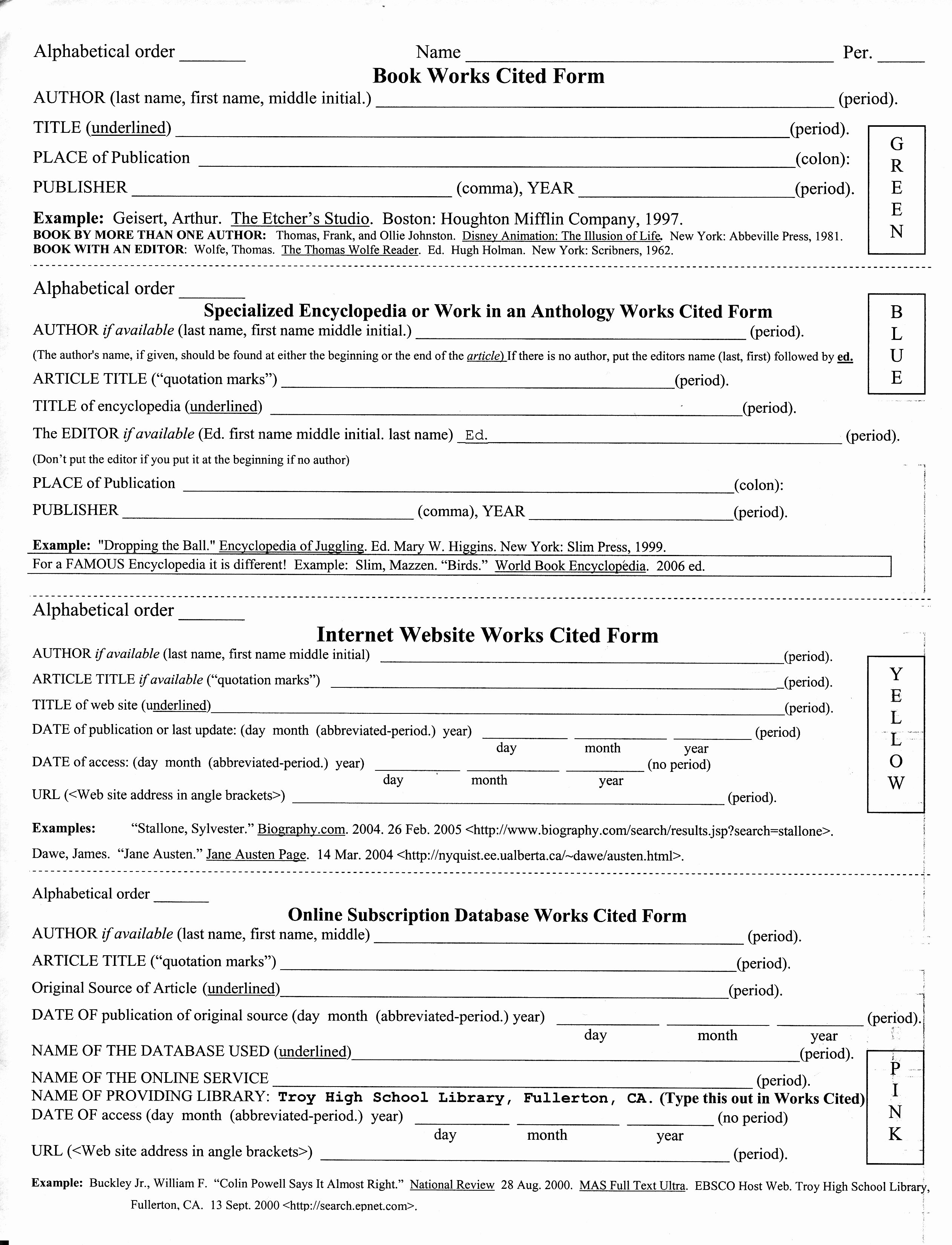 Mla Citation Practice Worksheet New Mla In Text Citation Worksheet the Best Worksheets Image