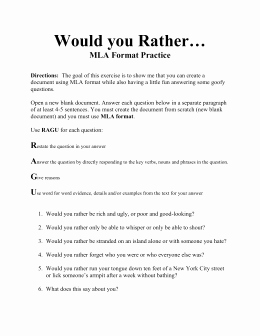 Mla Citation Practice Worksheet New Mla Practice Worksheet