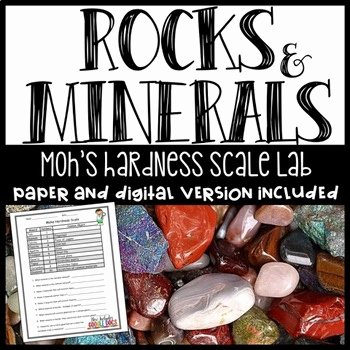 Mohs Hardness Scale Worksheet Best Of Minerals Worksheet On Mohs Hardness Scale by ashleigh