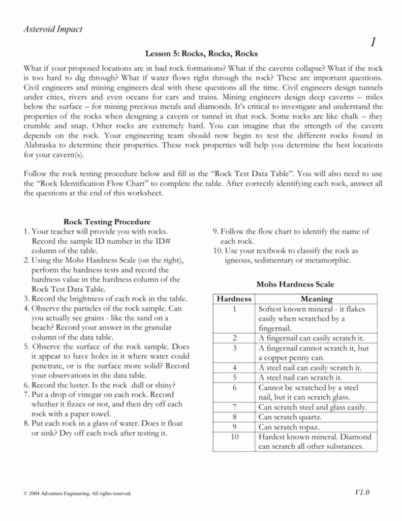 Mohs Hardness Scale Worksheet Fresh Download This Rocks Rocks Rocks Worksheet From by