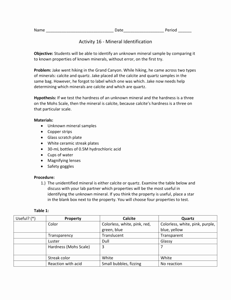 Mohs Hardness Scale Worksheet New Worksheet Mohs Hardness Scale Worksheet Grass Fedjp