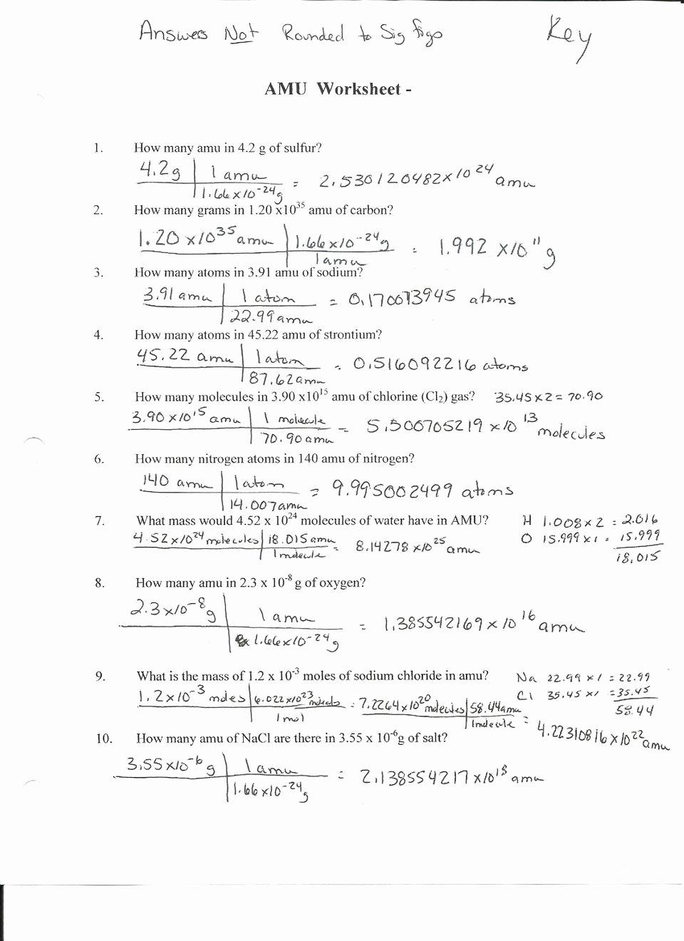 Molar Conversion Worksheet Answers Fresh Mole Conversion Problems Worksheet 1 Breadandhearth