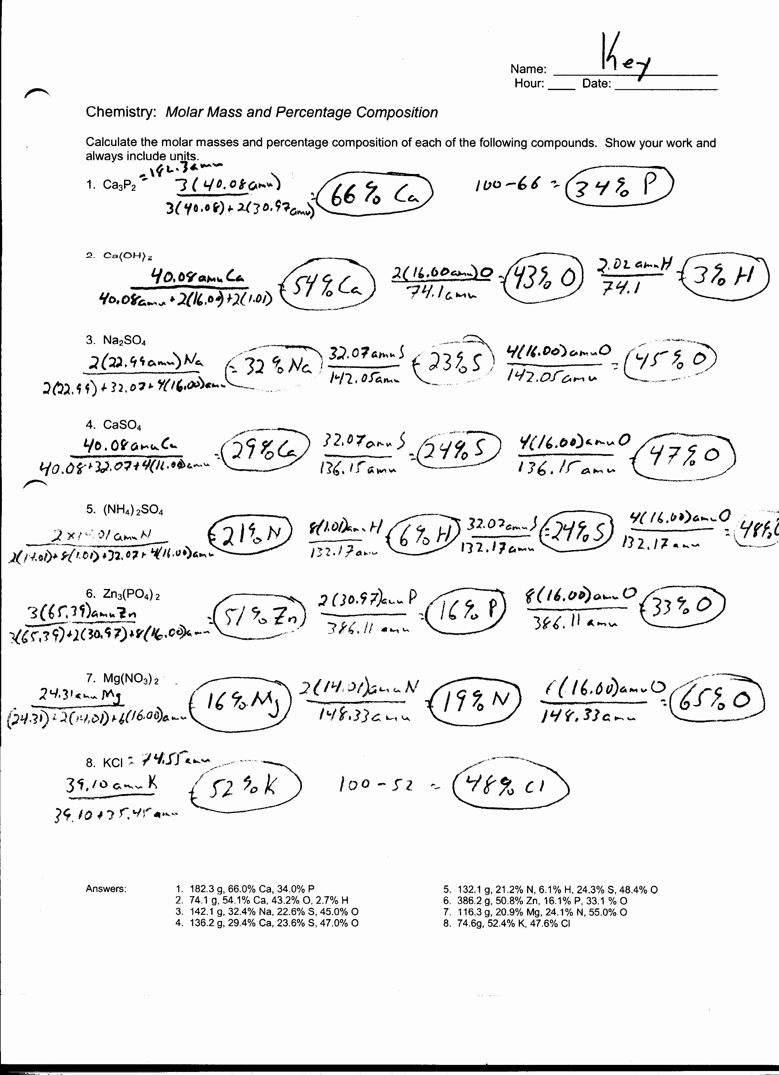 Molar Conversion Worksheet Answers Luxury 5 Best Of Chemistry if8766 Worksheet Answers Mass