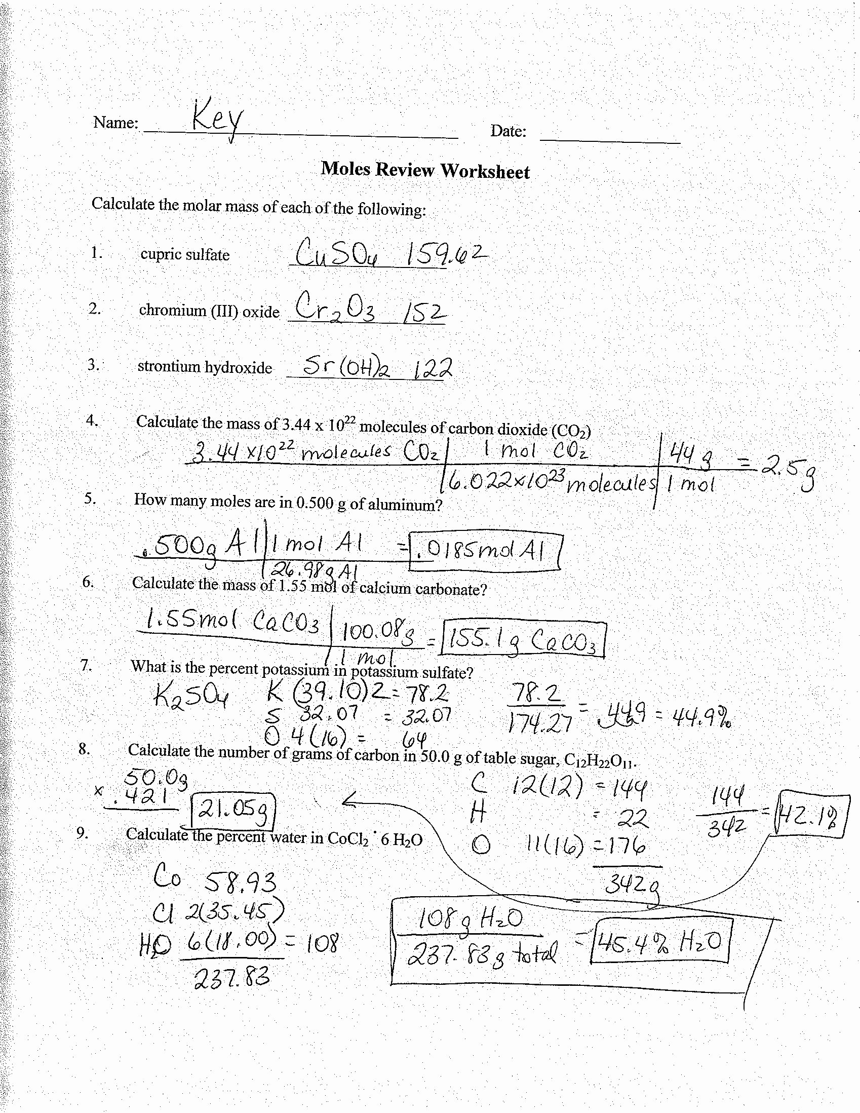 Molar Conversion Worksheet Answers Luxury 84 Mole Conversion Worksheet Answers Mole Ratio Worksheet