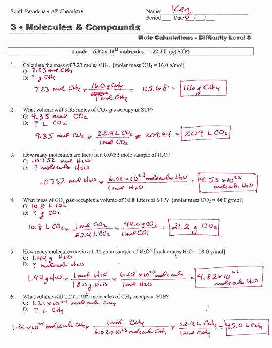 Molar Mass Practice Worksheet Fresh Molar Mass Worksheet Answers