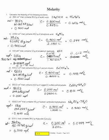 Molar Mass Worksheet Answer Key Elegant Molar Mass Worksheet