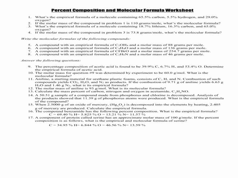 Molar Mass Worksheet Answer Key New Molar Mass Worksheet Answers