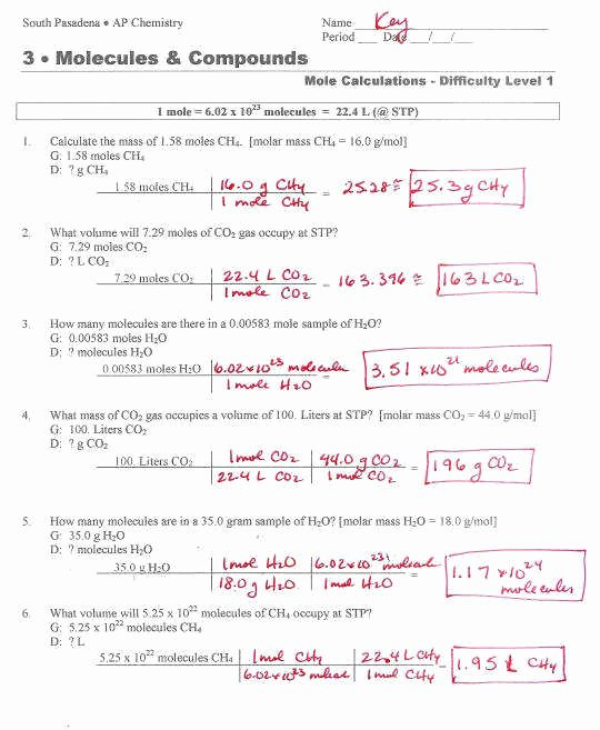 Molarity Practice Worksheet Answer Elegant Molarity Practice Worksheet Answers