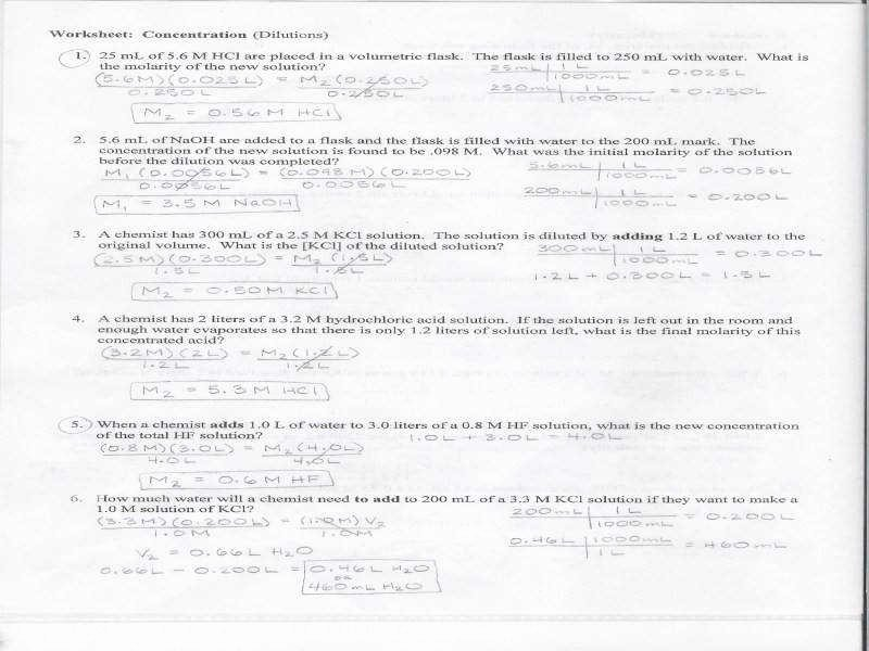 Molarity Practice Worksheet Answer Inspirational Molarity Practice Worksheet Answers
