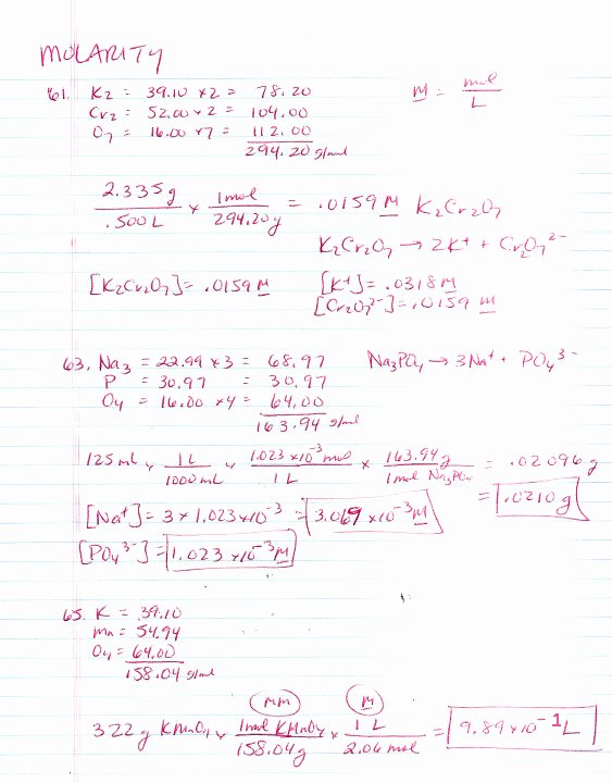 Molarity Practice Worksheet Answer Inspirational Molarity Worksheet Answers