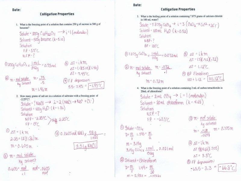 Molarity Worksheet Answer Key Elegant Molality Worksheet Answer Key Free Printable Worksheets