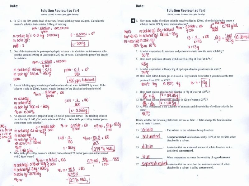 Molarity Worksheet Answer Key Fresh Molality Worksheet Answer Key Free Printable Worksheets
