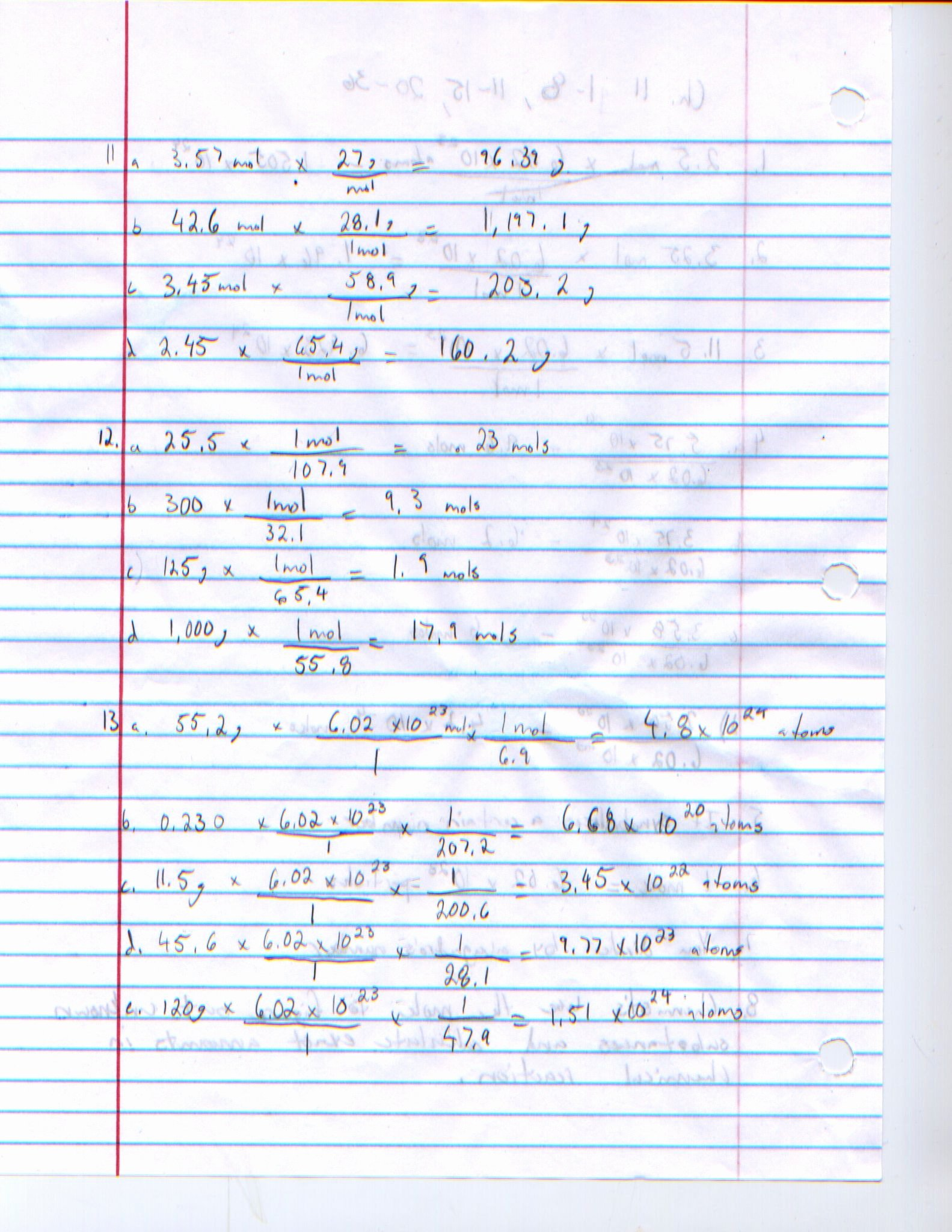 Molarity Worksheet Answer Key Fresh Mole to Grams Grams to Moles Conversions Worksheet Answer