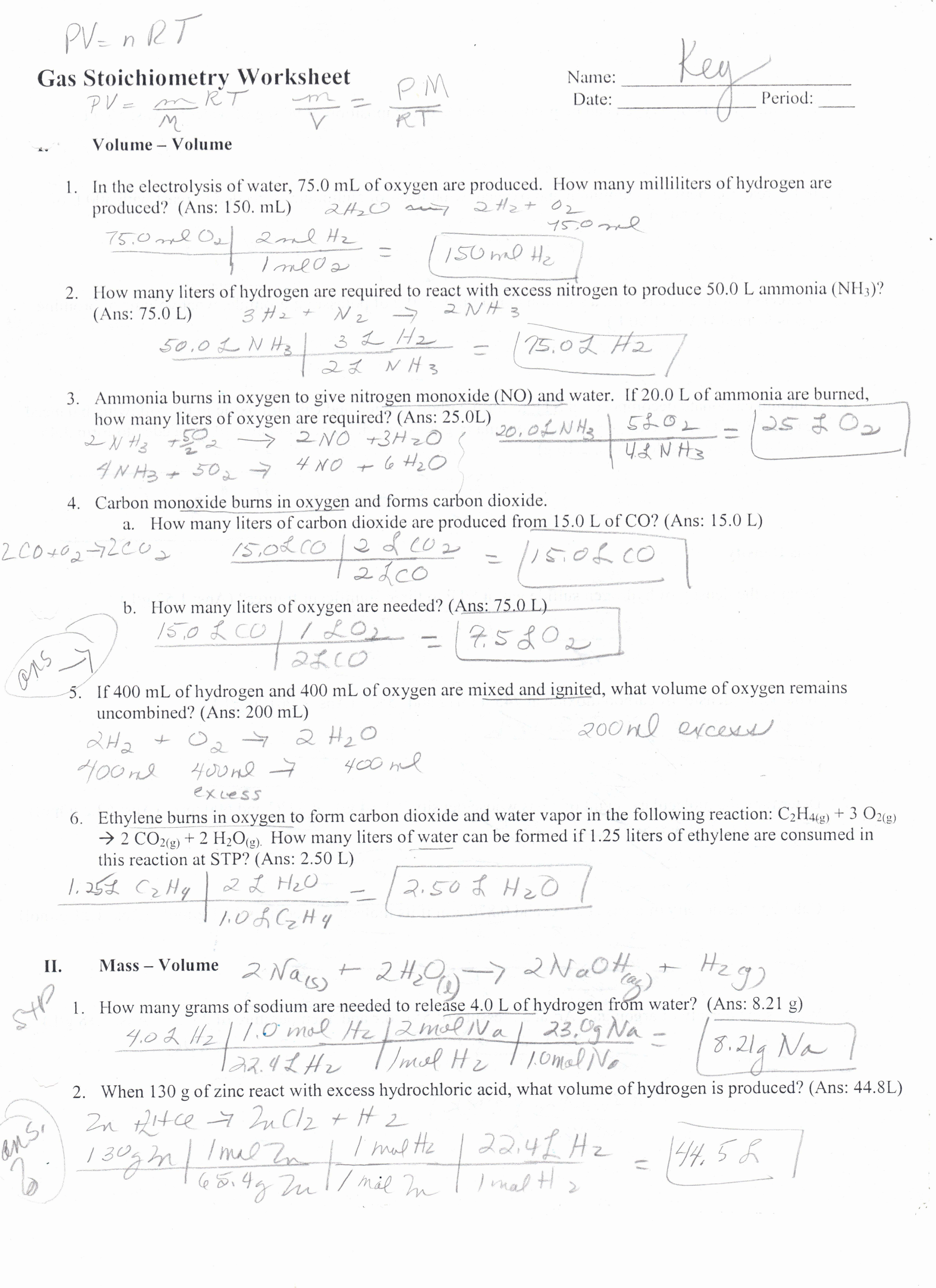 Molarity Worksheet Answer Key Lovely Worksheet Molarity Worksheet with Answers Grass Fedjp
