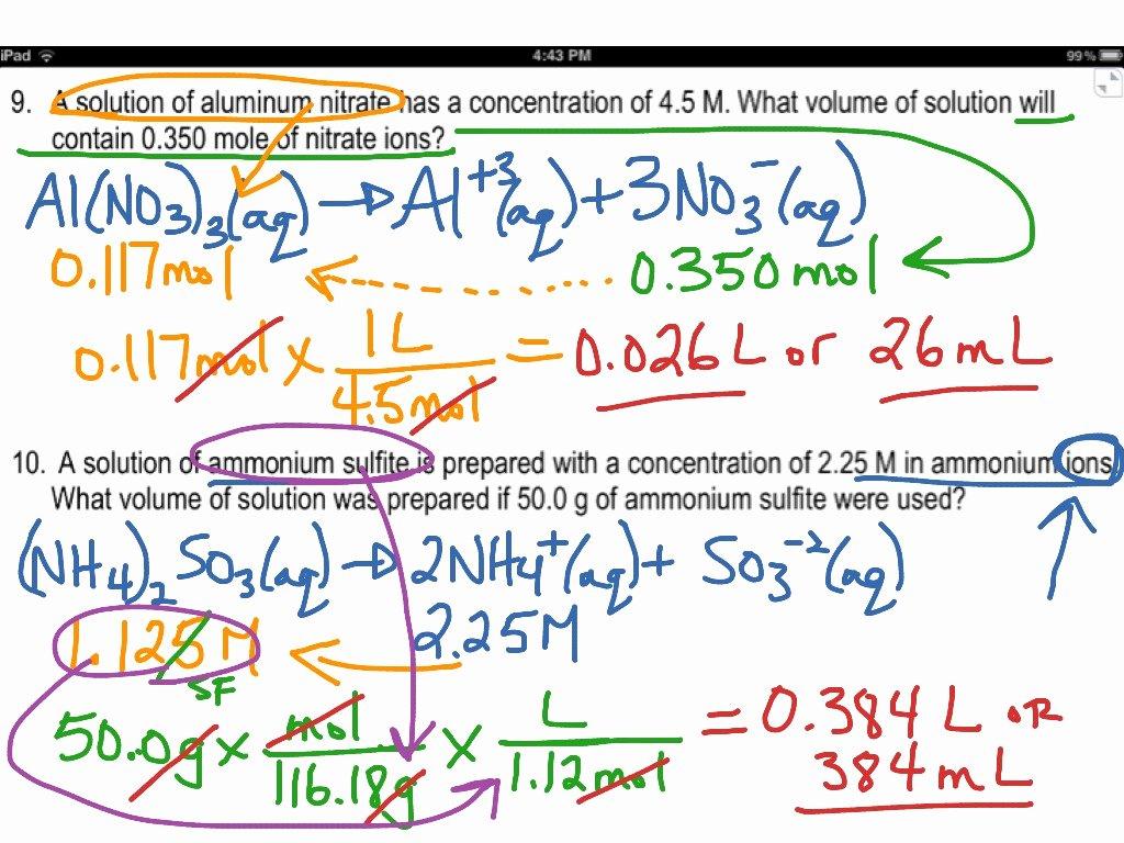 Molarity Worksheet Answer Key Unique Worksheet Molarity Worksheet with Answers Grass Fedjp