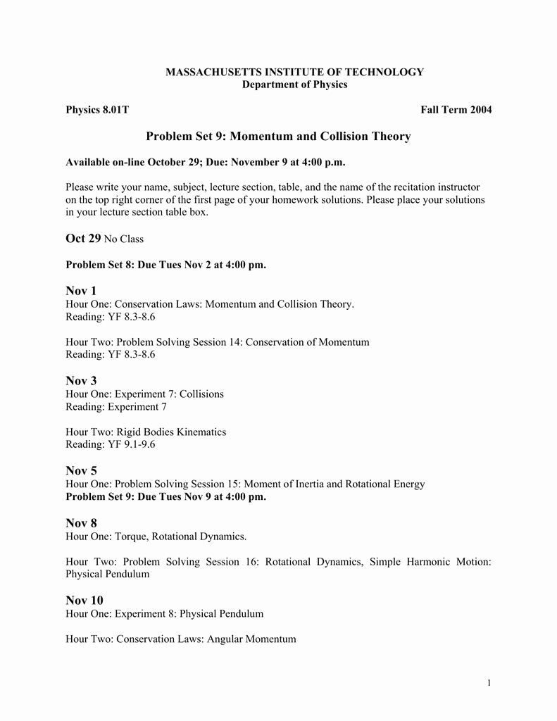 Momentum and Collisions Worksheet Answers Fresh Impulsive force Model Worksheet 4 Conservation Momentum