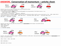 Momentum and Collisions Worksheet Answers Luxury Conservation Of Momentum Collisions Elastic and