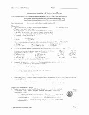 Momentum and Collisions Worksheet Answers Luxury Projectile Motion Worksheet Ii solutions General Launch