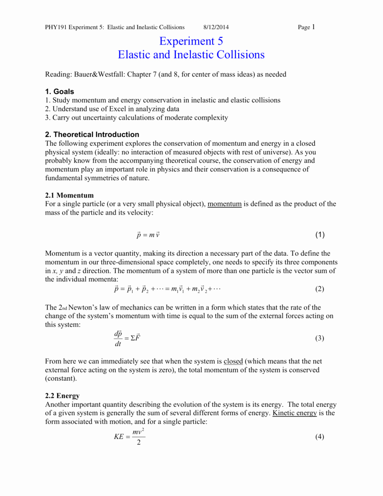 Momentum and Collisions Worksheet Answers Unique Momentum and Collisions Worksheet Answers Physics