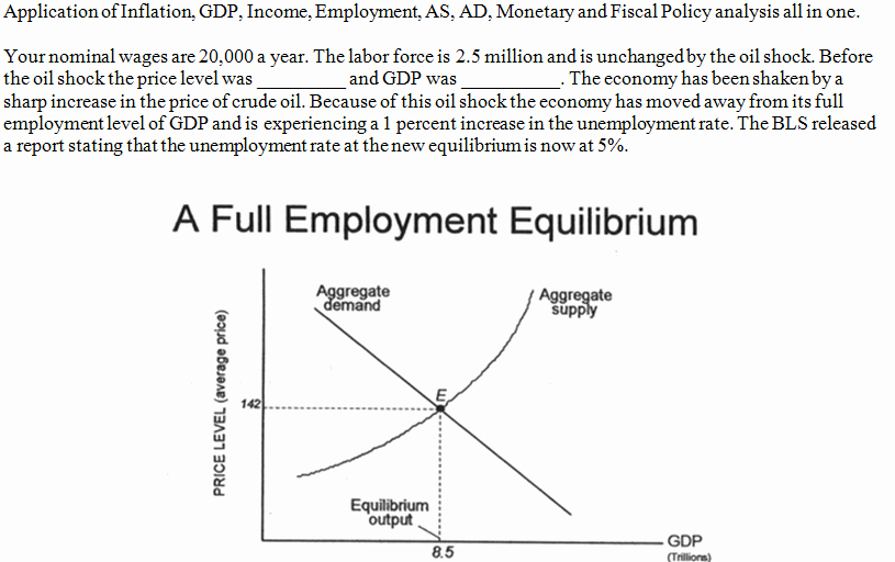 Monetary Policy Worksheet Answers Beautiful Application Inflation Gdp In E Employment