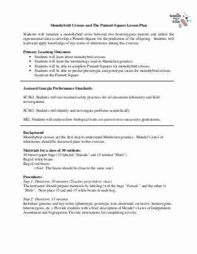 Monohybrid Cross Practice Problems Worksheet Awesome Monohybrid Cross Worksheet