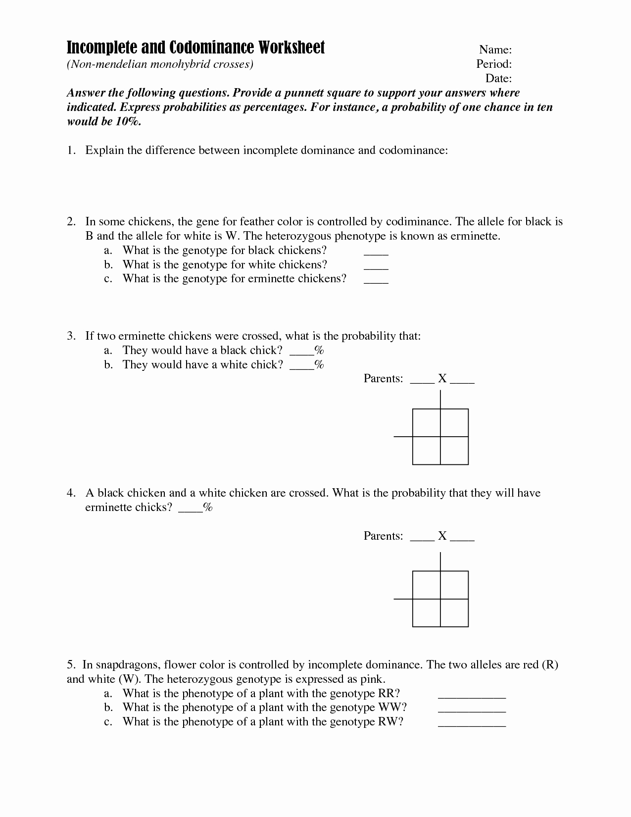 Monohybrid Crosses Worksheet Answers Best Of 14 Best Of Monohybrid Cross Worksheet Answer Key