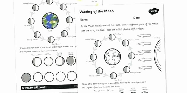 Moon Phases Worksheet Answers Beautiful Moon Phases Worksheets 7th Grade – Devopstraining
