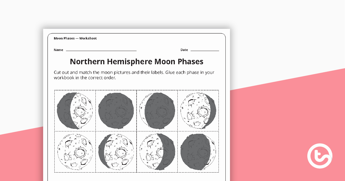 Moon Phases Worksheet Answers Elegant Moon Phases Worksheet northern Hemisphere Teaching