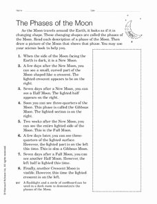 Moon Phases Worksheet Answers Elegant the Phases Of the Moon Worksheet for 4th 6th Grade