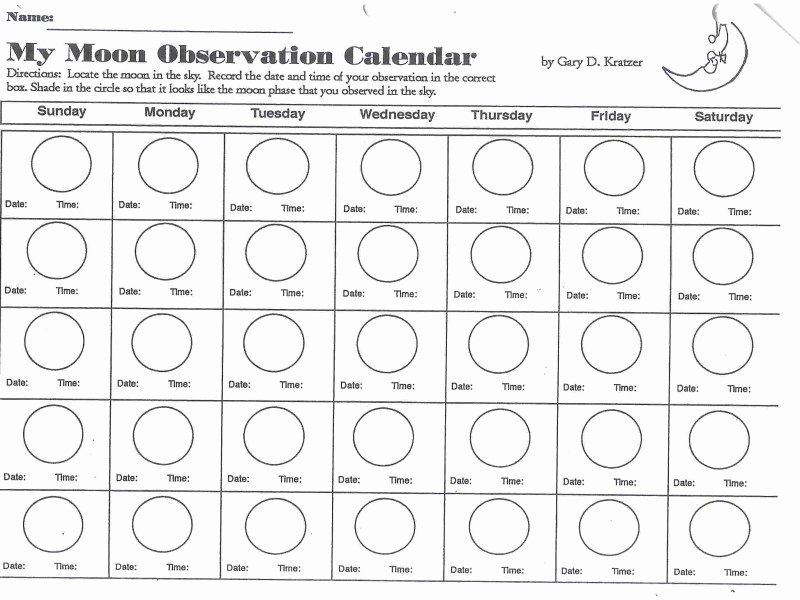 Moon Phases Worksheet Answers Fresh Phases the Moon Worksheet Free Printable Worksheets
