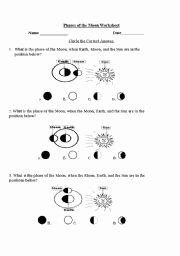 Moon Phases Worksheet Pdf Elegant Phases Of the Moon Esl Worksheet by Yodbez