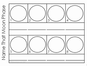 Moon Phases Worksheet Pdf Inspirational Moon Phases Interactive Notebook Pages by Kesler Science