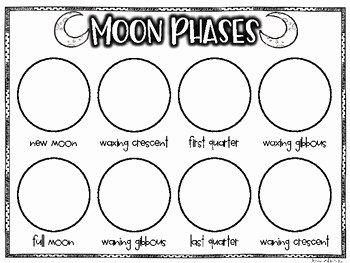 Moon Phases Worksheet Pdf Lovely Freebie