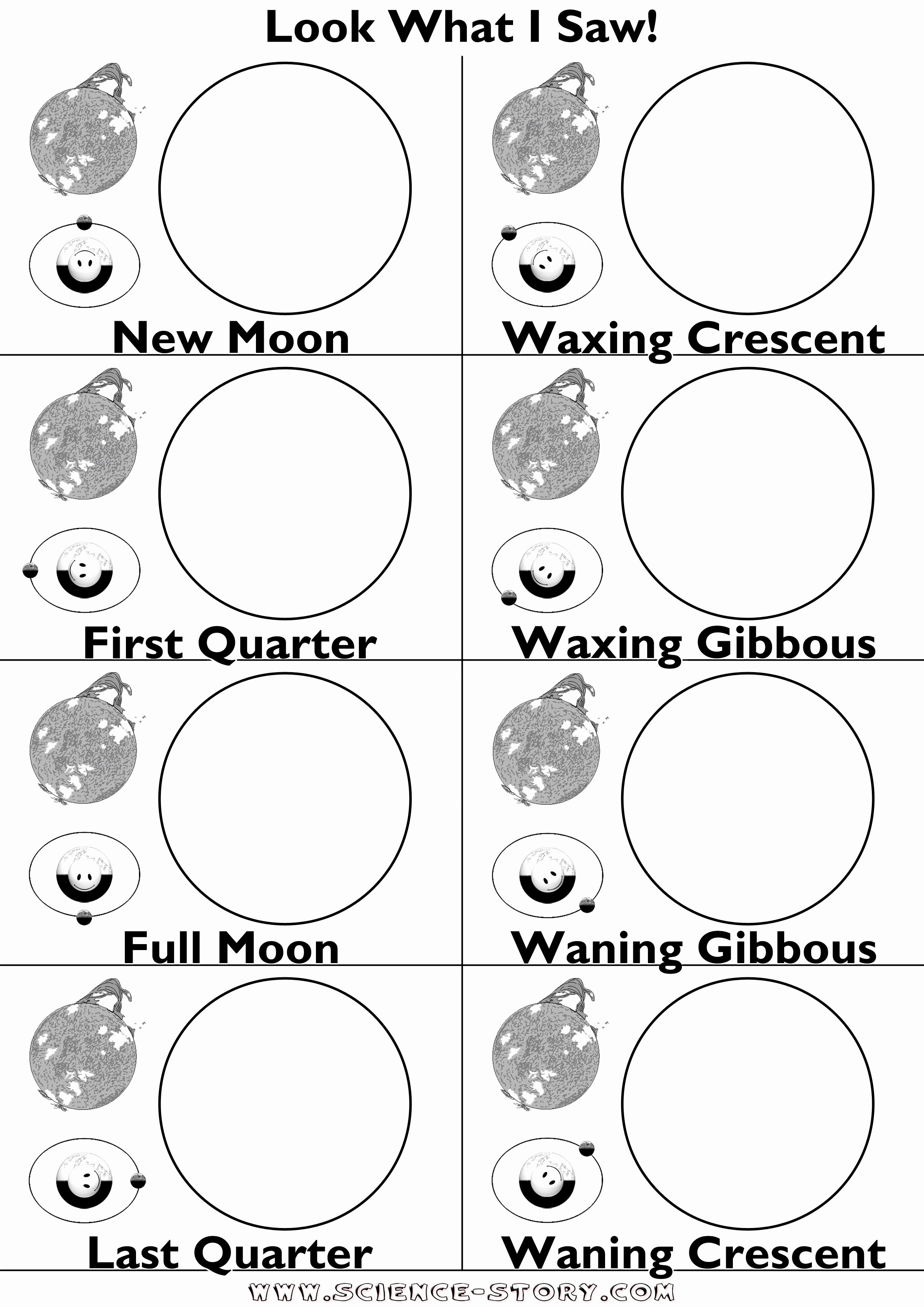 Moon Phases Worksheet Pdf Luxury 16 Best Of Moon Worksheets Printables