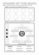 Moon Phases Worksheet Pdf Unique Powerpoint and Worksheet On the Moon by Dazayling