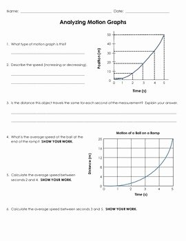Motion Graphs Physics Worksheet Inspirational Analyzing Motion Graphs Ws by Jodi S Jewels