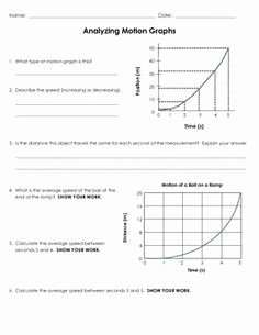 Motion Graphs Worksheet Answer Key Beautiful Motion Review Worksheet Distance Time Graphs