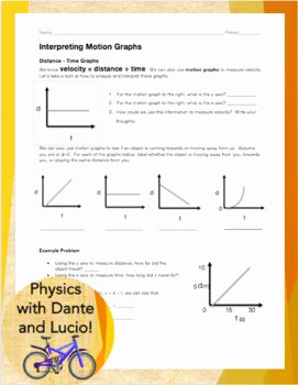 Motion Graphs Worksheet Answer Key New Interpreting Motion Graphs by Physics with Dante and Lucio