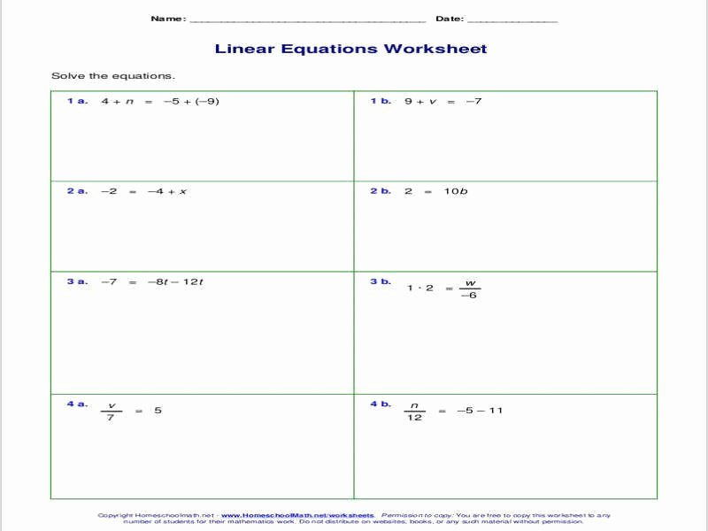Multi Step Equations Worksheet Pdf Best Of Equations with Variables Both Sides Worksheet