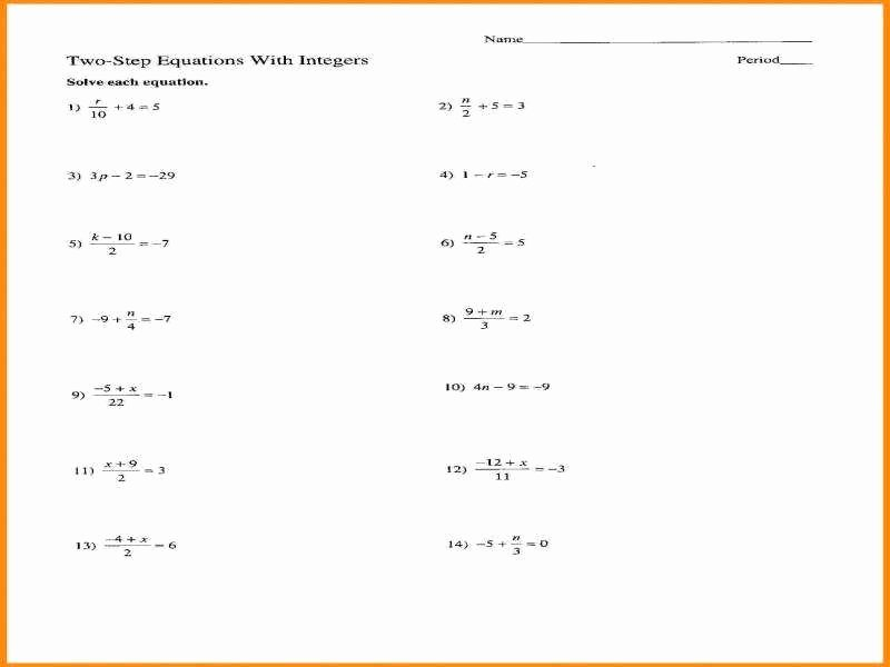 Multi Step Equations Worksheet Pdf Best Of Variables Both Sides Worksheet